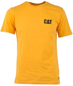 CAT basic T-shirt, 100% bomuld, Gul