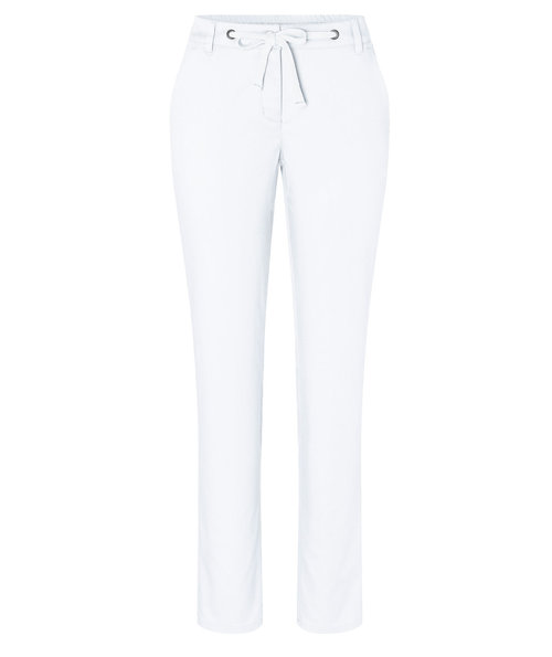 Karlowsky women's chino trousers with stretch, White