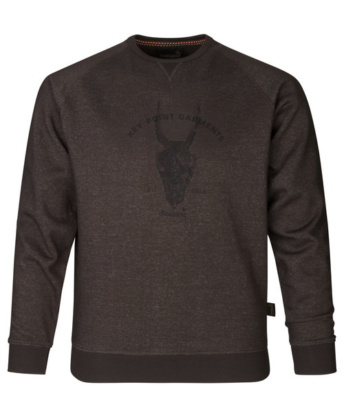 Seeland Key-Point sweatshirt, After dark melange