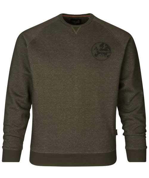 Seeland Key-Point sweatshirt, Pine green melange