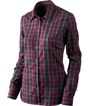 Seeland Pilton women's shirt, Raisin check