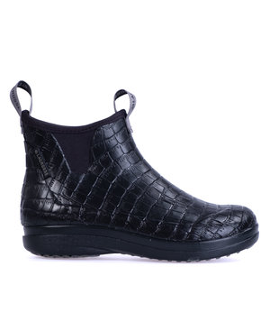 LaCrosse Hampton II women's rubber boots, Croco Embossed/Black