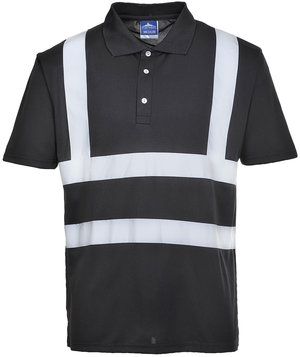 Portwest Iona polo shirt, Black
