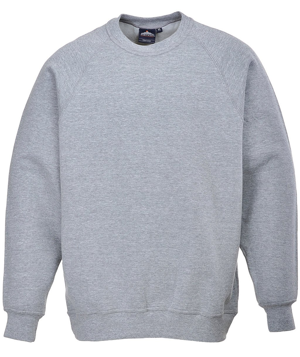 Portwest Roma sweatshirt, Heather Grey