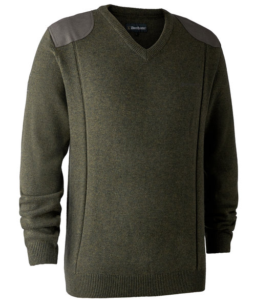 Deerhunter Sheffield Strickpullover, Green Melange