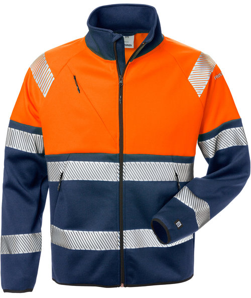 Fristads sweatjakke, Hi-Vis Orange/Marine