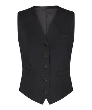 Sunwill Regular fit women's waistcoat, Black