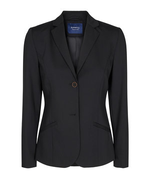 Sunwill Regular fit blazer dam, Black