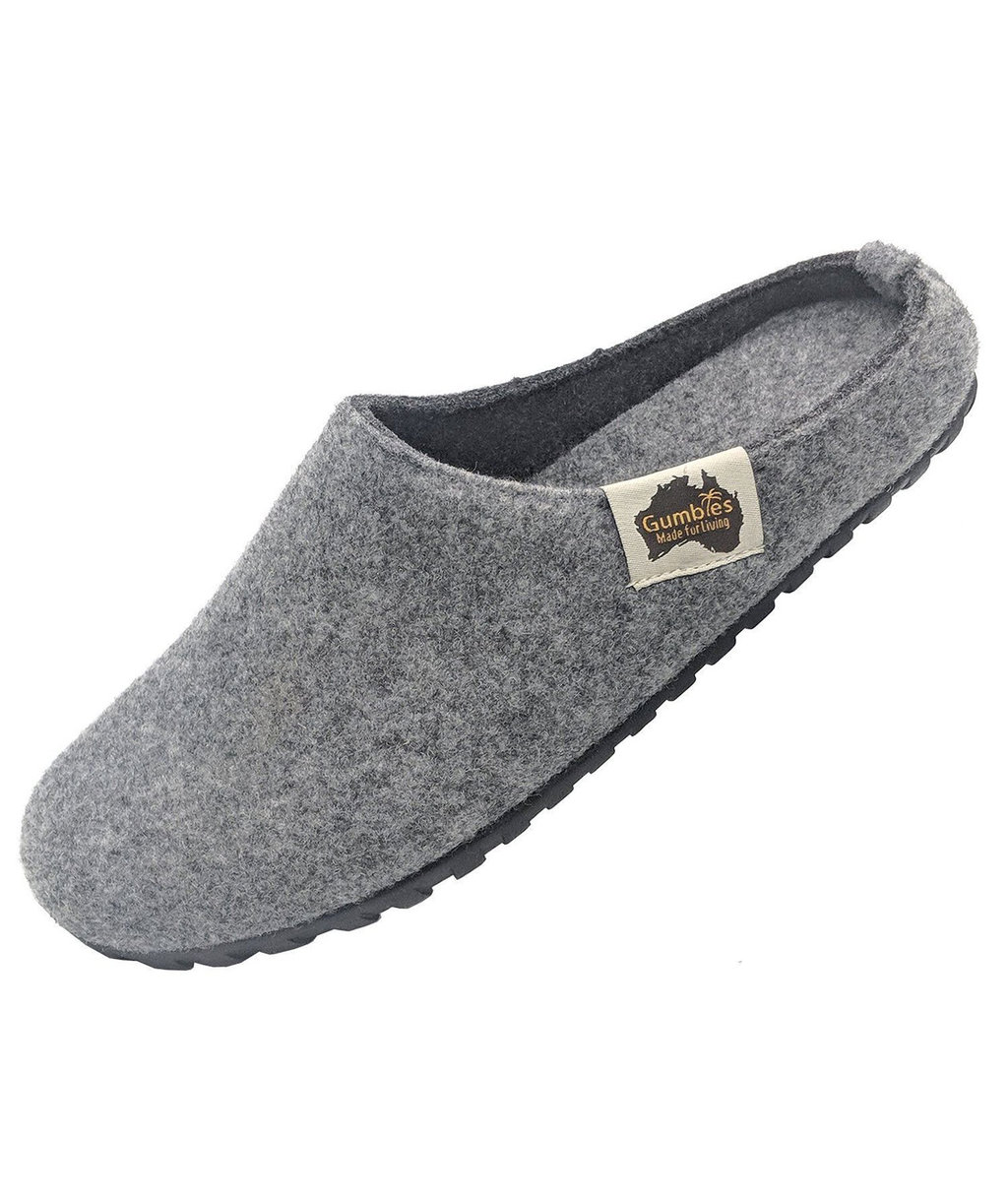 Gumbies Outback Slipper tofflor, Grey/Charcoal