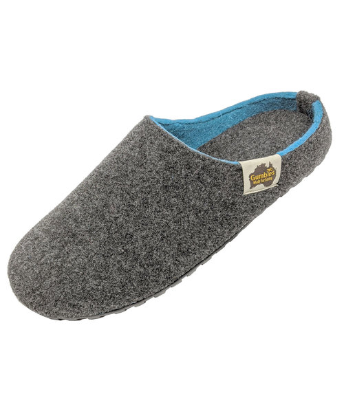 Gumbies Outback Slipper tofflor, Charcoal/Turquoise