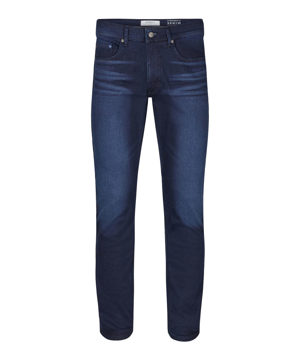Sunwill Fitted fit jeans, Dark blue washed