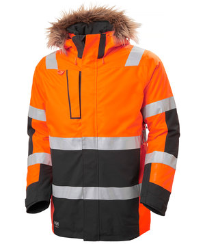 Helly Hansen WW Alna 2.0 Parka, Hi-Vis Orange/Charcoal