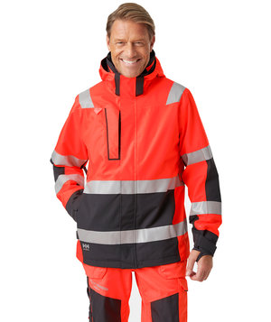 Helly Hansen WW Alna 2.0 shell jacket, Hi-Vis Red/Charcoal