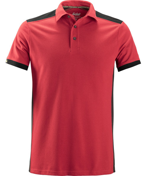 Snickers AllroundWork polo T-shirt, Rød/Sort