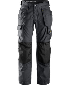 Snickers craftsmen's trousers, Charcoal/Black
