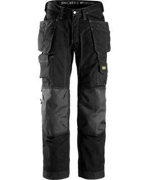 Snickers craftsmen's trousers, Black/Black