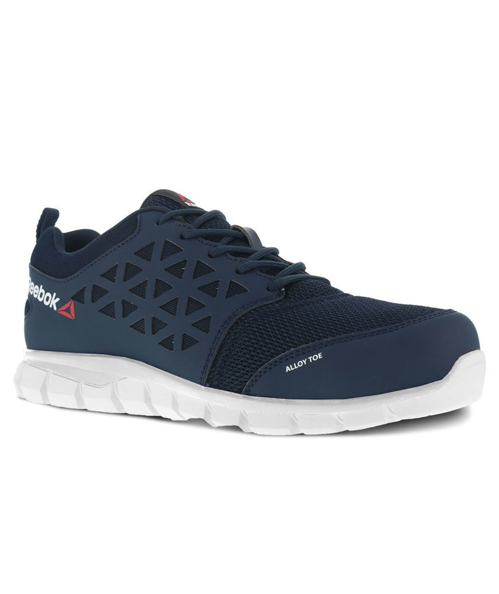 Reebok Blue Oxford safety shoes S1P, Navy