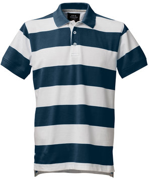 South West Morris Rand polo shirt, Navy/White
