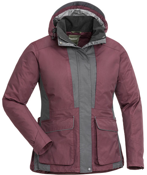 Pinewood Dog Sports 2.0 Damen Jacke, Plum/Dark Anthracite