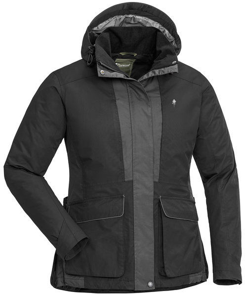 Pinewood Dog Sports 2.0 Damen Jacke, Black/Dark Anthracite