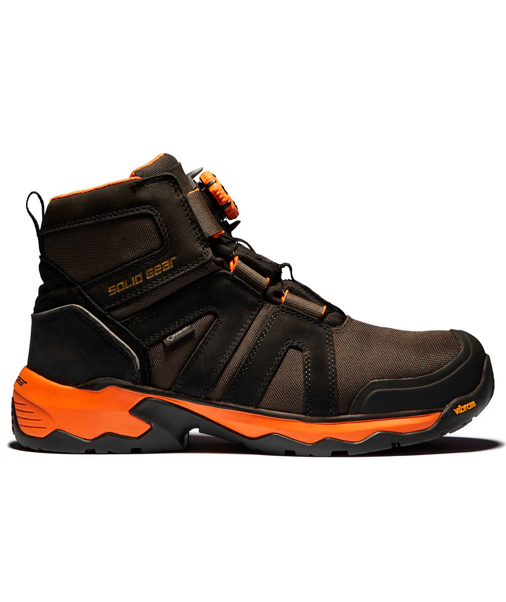 Solid Gear Tigris GTX AG Mid safety bootees S3, Black/Orange