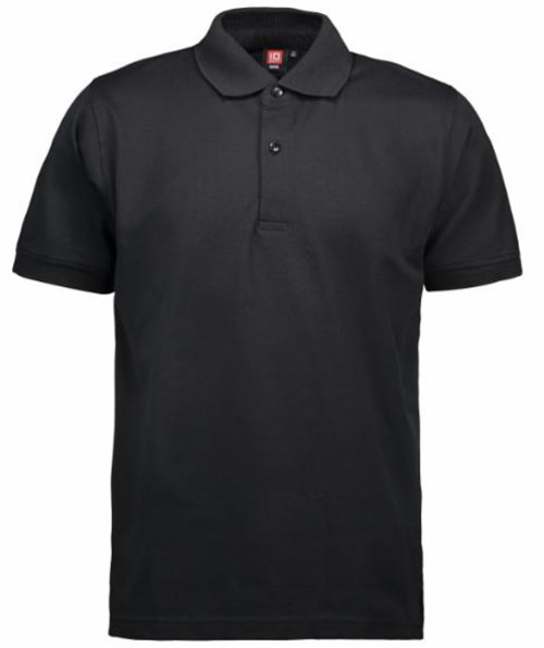 ID Pique Polo T-shirt, Sort