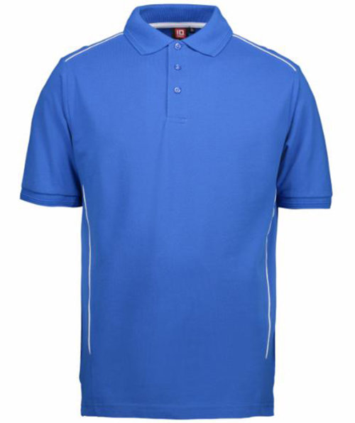 ID PRO Wear pipings polo T-shirt, Azurblå