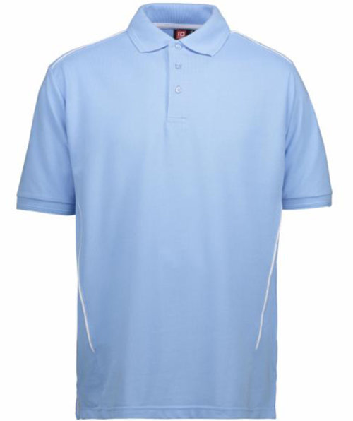ID PRO Wear pipings polo T-shirt, Lyseblå