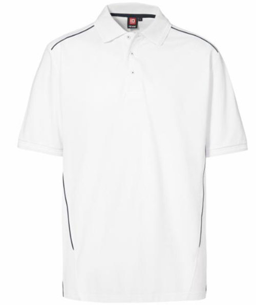 ID PRO Wear pipings polo T-shirt, Hvid