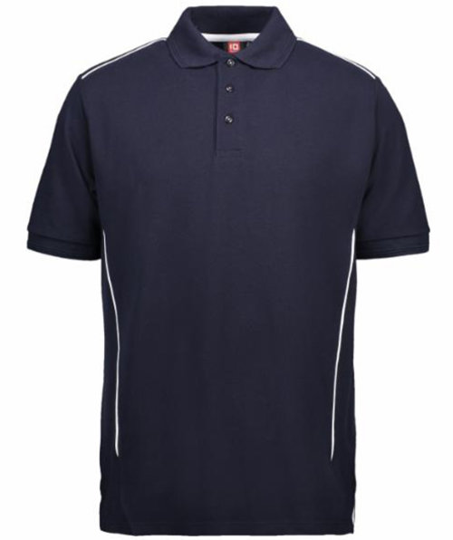 ID PRO Wear pipings polo T-shirt, Marine