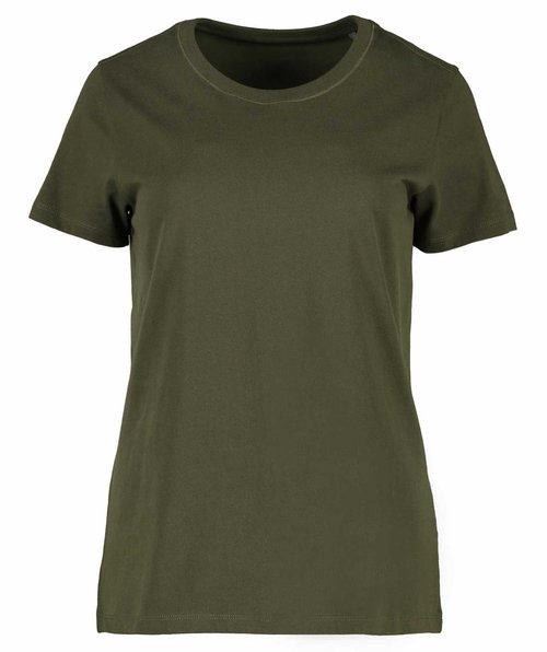 ID organic women's T-shirt, Olive Green