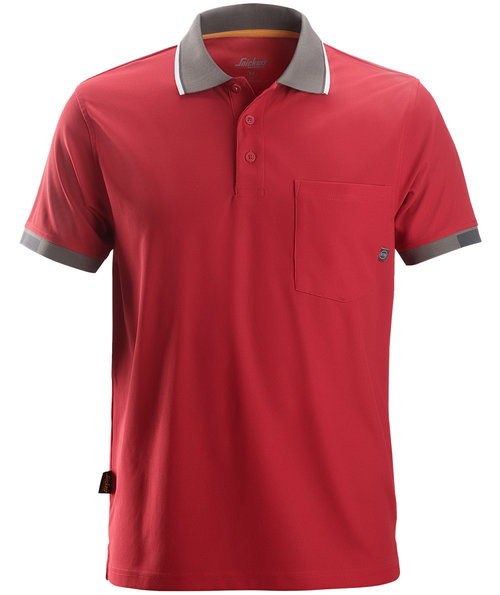 Snickers AllroundWork 37,5® polo shirt, Red
