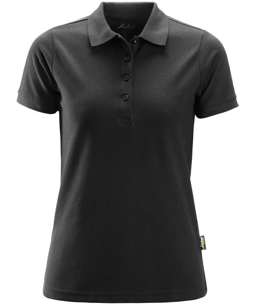 Snickers dame polo T-shirt, Sort