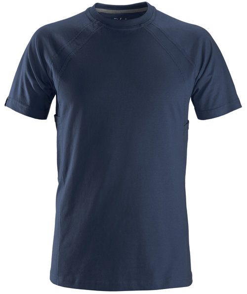 Snickers T-shirt med MultiPockets™, 100% bomuld, Marine