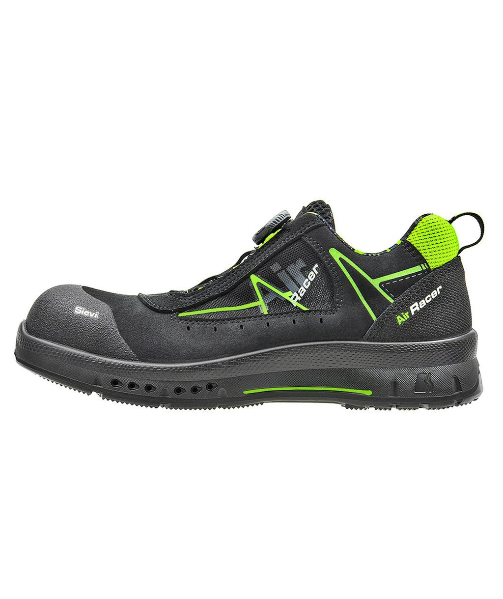 Sievi Air R2 Roller safety shoes S1, Black/Green