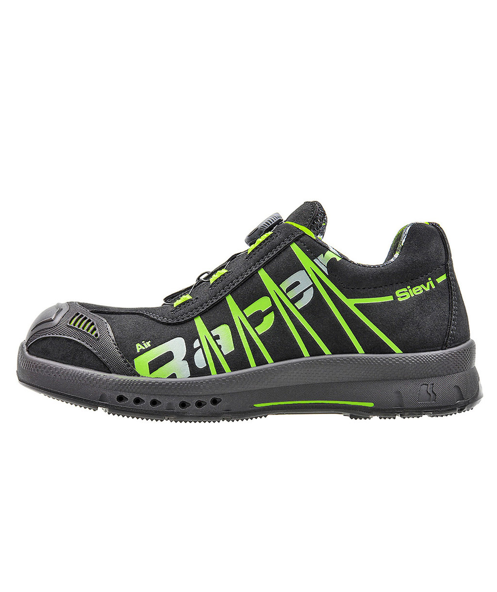 Sievi Air R3 Roller safety shoes S3, Black/Green