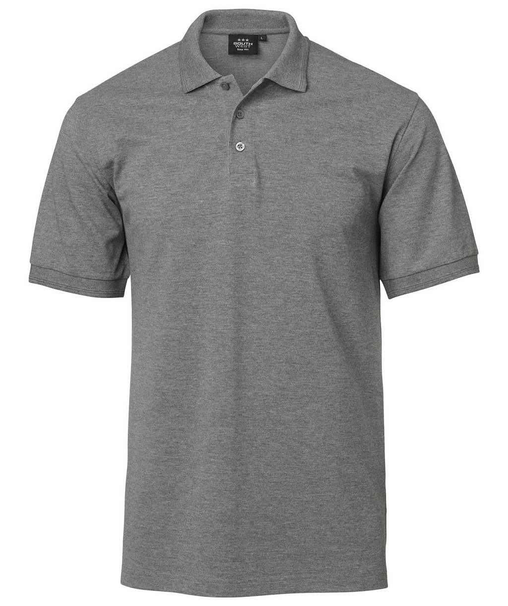 South West Coronado Poloshirt für Kinder, Mørk Gråmeleret