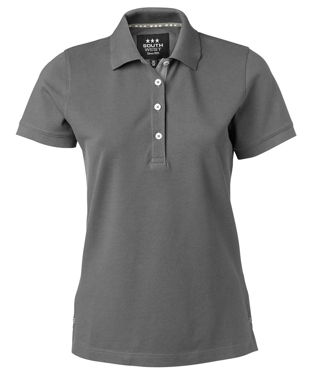 South West Marion dame polo T-shirt, Graphite