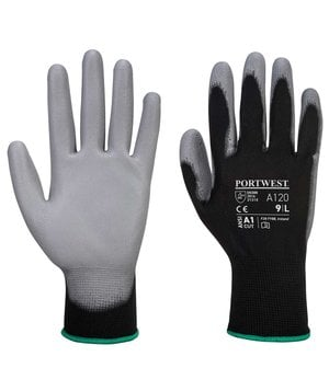 Portwest A120 work gloves, Black/Grey