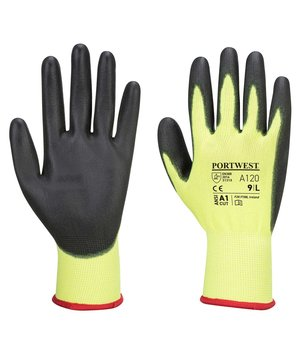 Portwest A120 work gloves, Yellow/Black