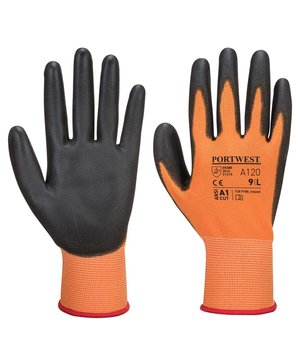 Portwest A120 work gloves, Orange/Black