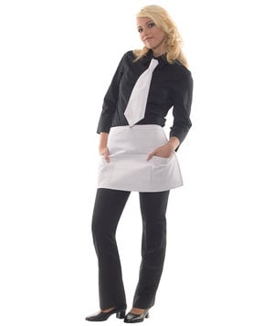 Karlowsky Linz bib apron with pockets, White