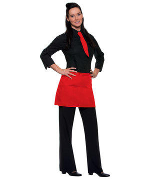 Karlowsky Linz bib apron with pockets, Red