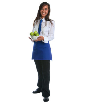 Karlowsky Linz bib apron with pockets, Blue