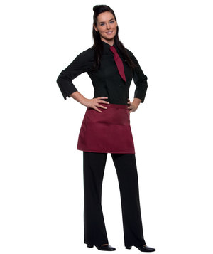 Karlowsky Linz bib apron with pockets, Bordeaux