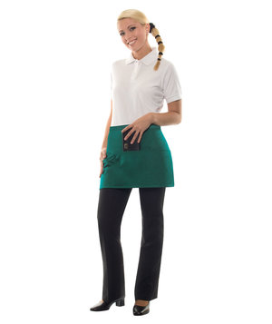 Karlowsky Linz bib apron with pockets, Green