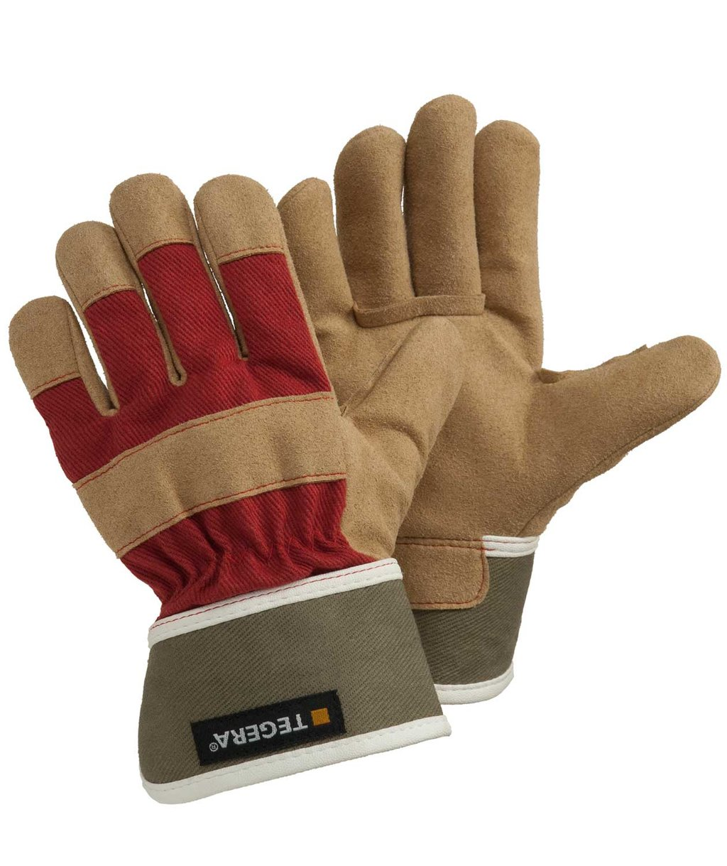 Tegera 90088 work gloves for kids, Brown/Red/Green