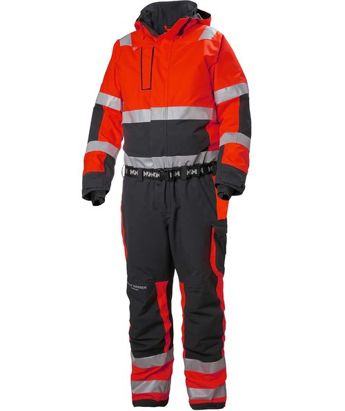 Helly Hansen WW Alna 2.0 coverall, Hi-Vis Red/Charcoal