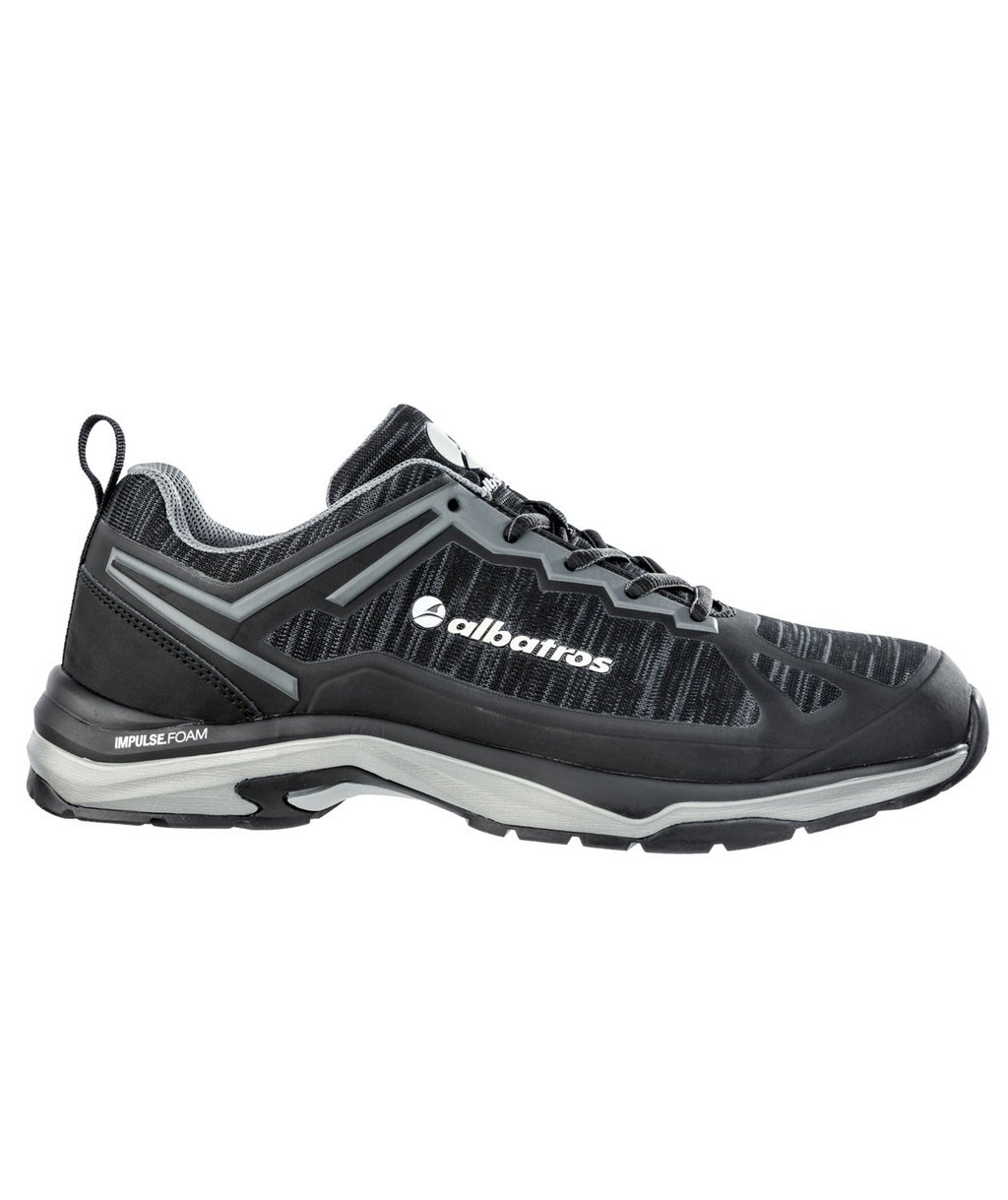 Albatros Skyrunner Black Low arbejdssko O1, Sort