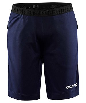 Craft Evolve Zip Pocket shorts für Kinder, Navy
